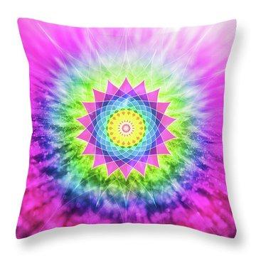Flowering Mandala Throw Pillow