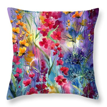 Flowers Fairy Tale Throw Pillow