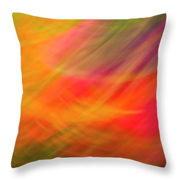 Flowers In Abstract Throw Pillow