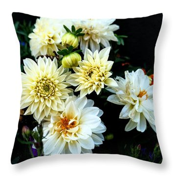Flowers In The Garden Throw Pillow