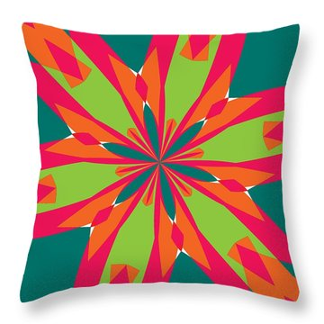 Flowers Number 21 Throw Pillow