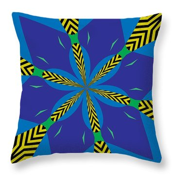 Flowers Number 22 Throw Pillow