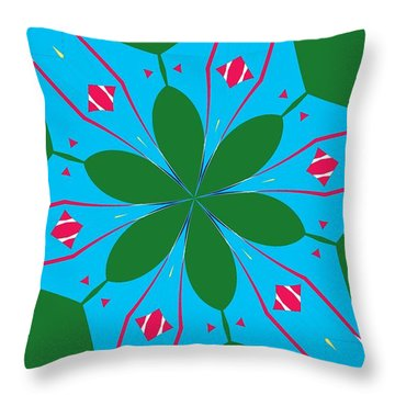 Flowers Number 23 Throw Pillow