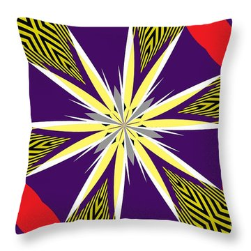 Flowers Number 24 Throw Pillow