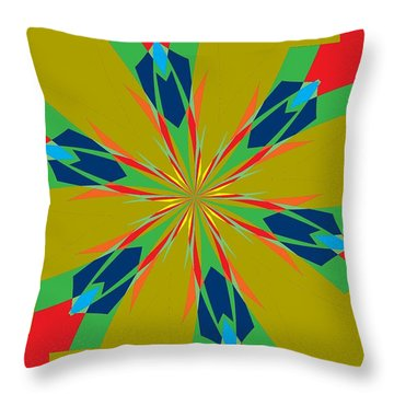 Flowers Number 27 Throw Pillow