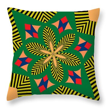 Flowers Number 7 Throw Pillow