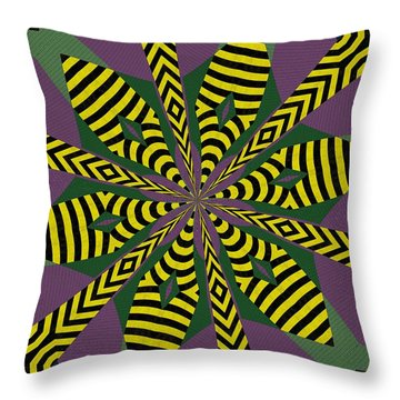 Flowers Number Eight Throw Pillow