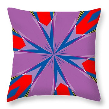 Flowers Number Four Throw Pillow