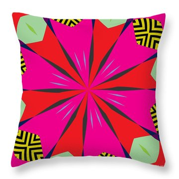 Flowers Number One Throw Pillow