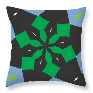 Flowers Number Two Throw Pillow