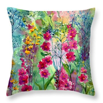 Flowery Fairy Tales Throw Pillow