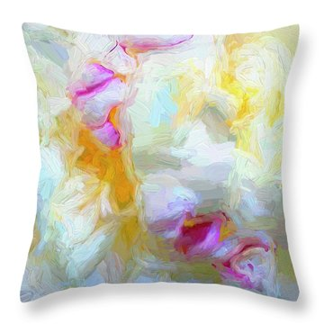 Fluffy Peony Throw Pillow