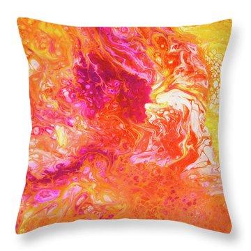 Fluid Hibiscus Throw Pillow
