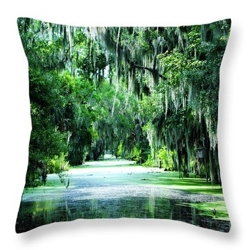 Flush With Green Throw Pillow