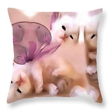 Flutter Fly Throw Pillow