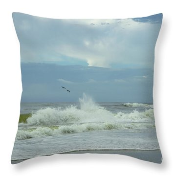 Fly Above The Surf Throw Pillow
