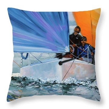 Flying Colors Two Throw Pillow
