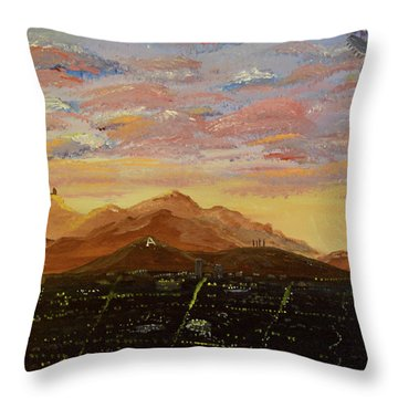 Flying Over Tucson Throw Pillow