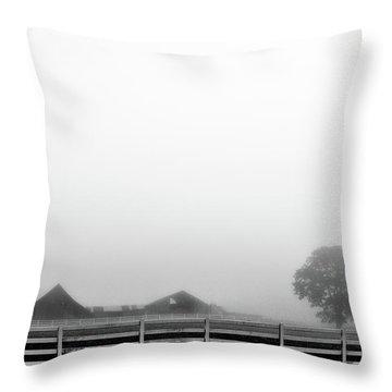 Fog And The Farm Throw Pillow