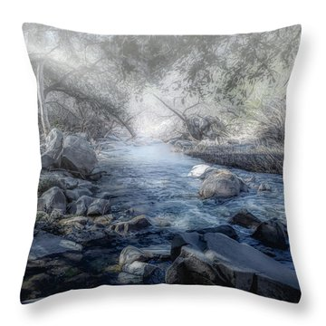 Foggy Creek 2 Throw Pillow
