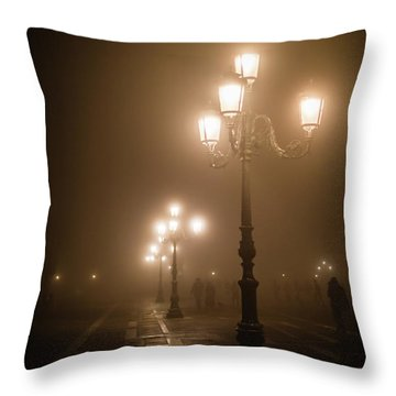 Foggy Piazza San Marco, Venice Throw Pillow
