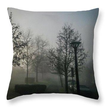 Throw Pillow featuring the photograph Foggy Street by Juan Contreras