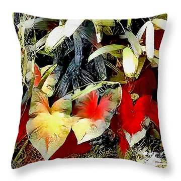 Throw Pillow featuring the digital art Foilage by Pennie McCracken