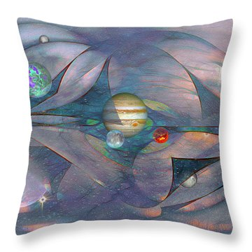 Folding Space Throw Pillow