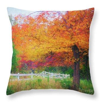Foliage By The Farm Throw Pillow