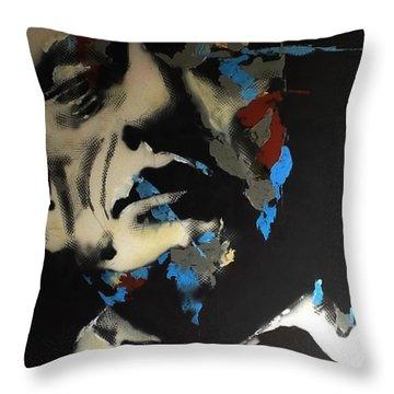 Folsom Blues _ Johnny Cash  Throw Pillow