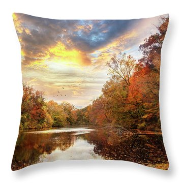 For The Love Of Autumn Throw Pillow