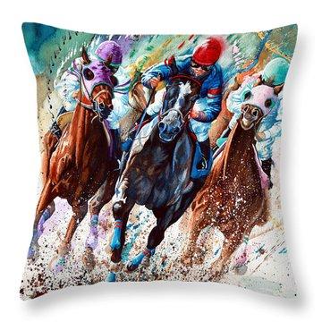 Horse Race Throw Pillows