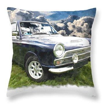 Ford Cortina 1 Throw Pillow