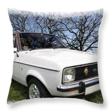 Ford Escort Throw Pillow