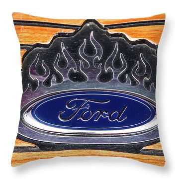Ford Fire Throw Pillow