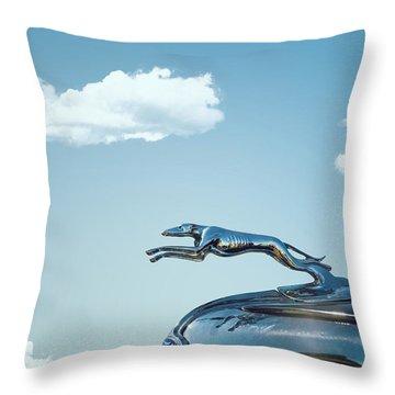 Ford Greyhound Throw Pillow