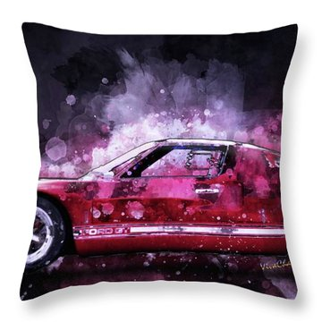 Ford Gt 40 Night Moves Throw Pillow