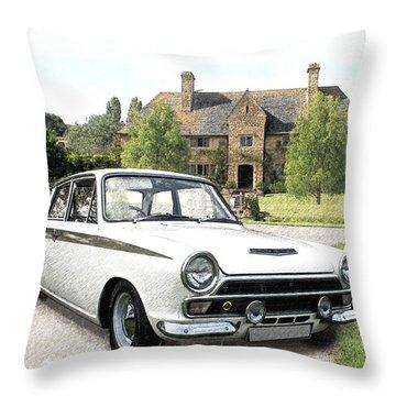 Ford 'lotus' Cortina Throw Pillow