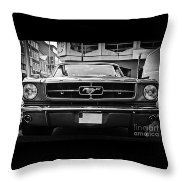 Ford Mustang Vintage 1 Throw Pillow