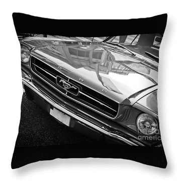 Ford Mustang Vintage 2 Throw Pillow