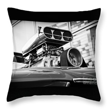 Ford Mustang Vintage Motor Engine Throw Pillow