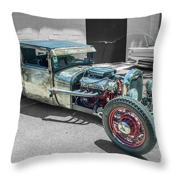 Ford Rat Rod Throw Pillow