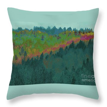 Forest And Valley Throw Pillow