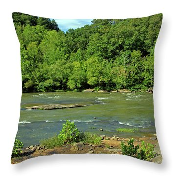 Throw Pillow featuring the photograph Forest At Cumberland River by Angela Murdock