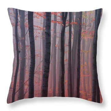 Forest Barcode Throw Pillow