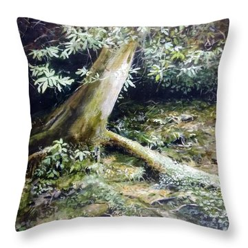 Throw Pillow featuring the painting Forest Edge by William Brody