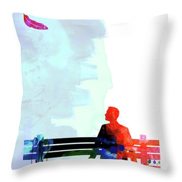 Forest Gump Watercolor II Throw Pillow