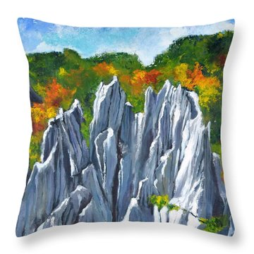 Forest Of Stones Throw Pillow