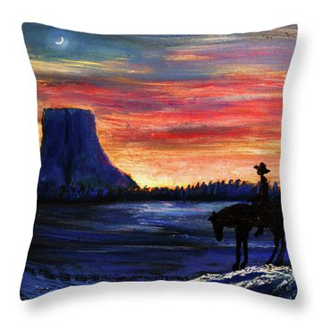 Forever West Throw Pillow