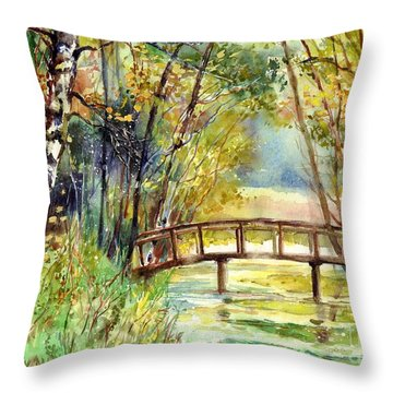 Forgotten Bridge Throw Pillow